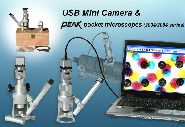 2034/2054 Peak Magnifier with USB Mini Camera