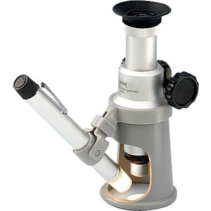 Erect Image with Measure (EIM) Wide Stand Microscope Peak 2054 20x to 100x