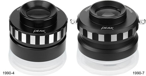 Peak 1990-4 4X and 1990-7 7X Anastigmatic Loupe